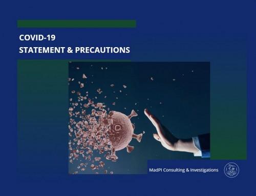 COVID-19 – Statement & Precautions